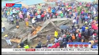 Breaking News : Three storey building under construction collapses in Kapsabet town