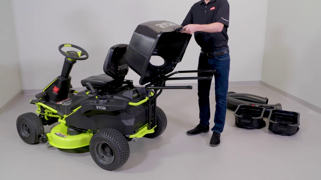 How To Install Riding Mower Bagging Kit Ryobi Landscapes