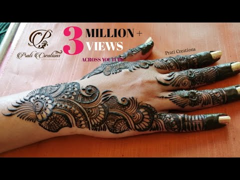 Download Latest Arabic Mehndi Designs For Full Hands Simple Arabic