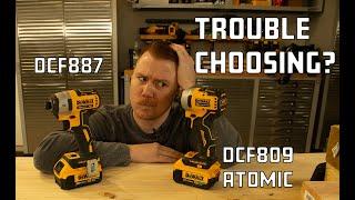 Best Impact Drivers? DEWALT Impact Driver Comparison -  DCF887 vs. ATOMIC DCF809