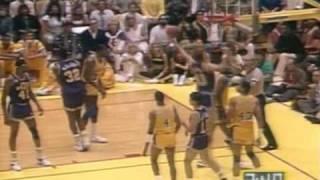 Utah Jazz @ LA Lakers, 1988 Western Finals, Game Five finish