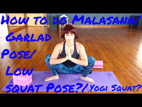 How to do Malasana/  Low squat Pose?