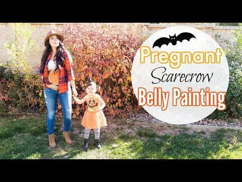 Pregnant Pumpkin Belly Painting | My DIY Scarecrow Costume
