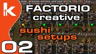 Factorio Sushi Setups | Factorio Creative Ep 2 - YouTube