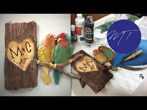 Love Birds Arborglyph | Michael Tyler's FREE Project of the Month | Vectric