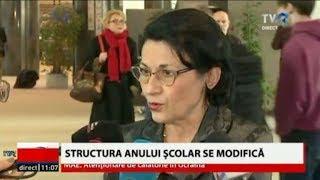 Ministru Educaţiei, Ecaterina Andronescu, Propune Modificarea Structurii Anului şcolar