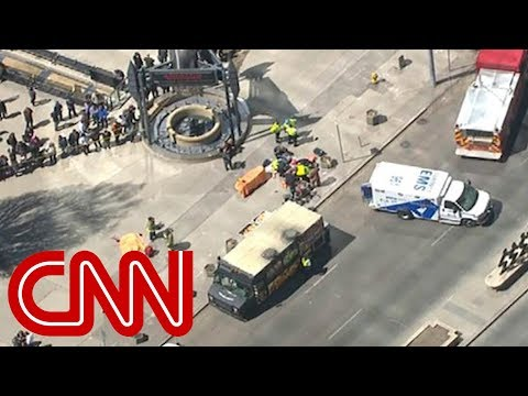 Van strikes pedestrians in Toronto