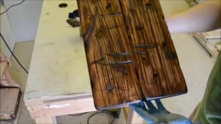 How To Make New Wood To Look Old - Barn Door - Part  2
