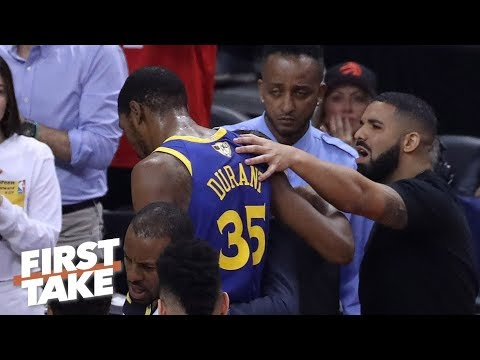 Raptors fans had an honest reaction by cheering KD's injury – Max Kellerman | First Take