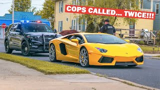 """ANGRY """"Karen"""" Calls the Cops on my STRIGHT PIPED LAMBORGHINI..."""