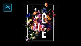 How To Create Beautiful Floral Typography Design In Photoshop - Photoshop Tutorials
