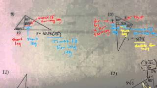 Special Right Triangles Multi Step Key P2