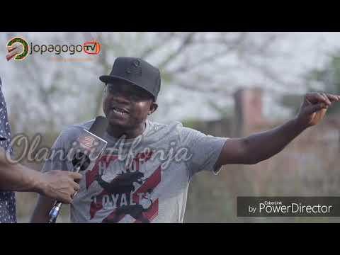SANYERI (Olaniyi Afonja) in latest film OJELU (Behind the scenes)