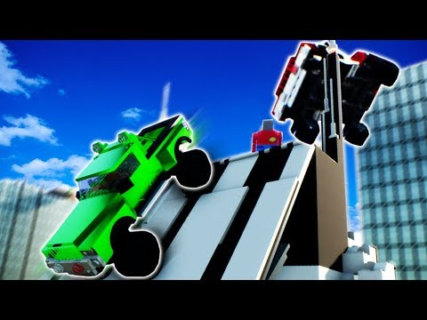 LEGO CITY JUMP RACE! – Lego Brick Rigs Gameplay Roleplay – Lego City Race Challenge