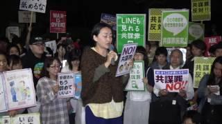安保関連法に反対するママの会@東京<br />小川佳代子さん