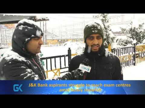 J&K Bank aspirants struggle to reach exam centres amid heavy snowfall