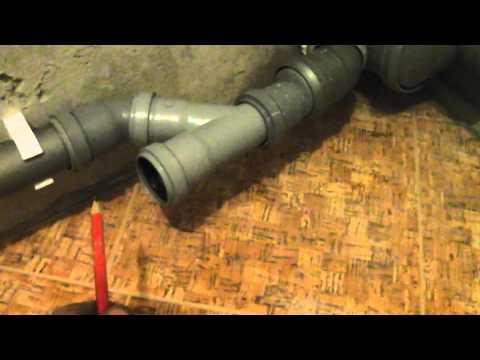 Правильная прокладка труб канализации.