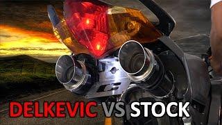 VFR800 Stock Exhaust Vs Delkevic Slip On
