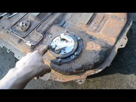 Снятие бака, ремонт шпилек бака Lancer 9