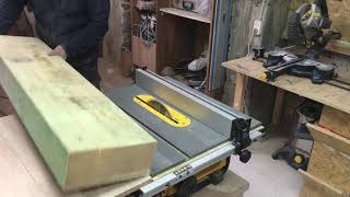 how to cut large pieces of wood on a table saw DW745