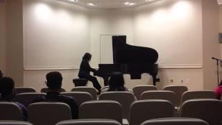 Melanie Matthews, pianist; 'Moonlight Sonata' in c# minor by Beethoven
