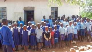 African Children Singing Kenyan National Anthem