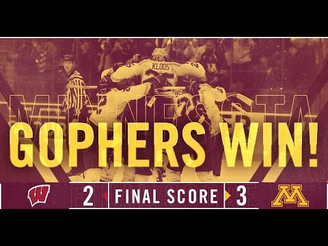 Highlights: Gopher Men's Hockey Defeats Wisconsin 3-2