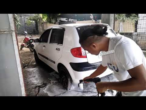 Bosch EasyAquatak 120 High Pressure Washer Test (Adjustable Nozzle and Detergent Nozzle)