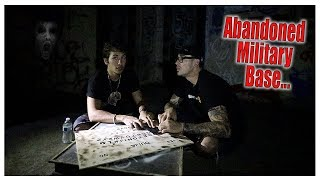 OUIJA BOARD in ABANDONED Military Base... (CHASED OUT)