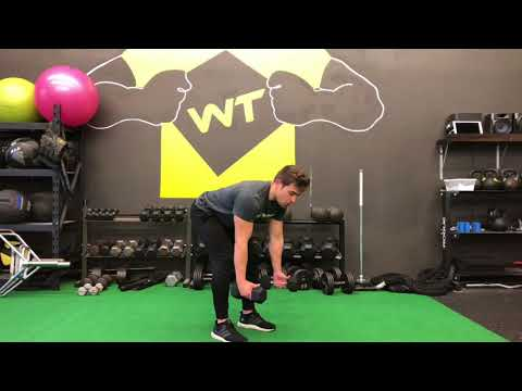 Pronated Bent Over Dumbbell Row