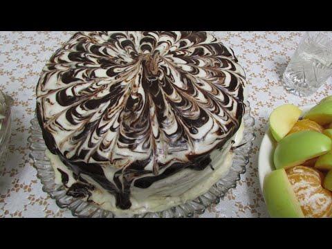 Рецепт торта из покупных бисквитных коржей