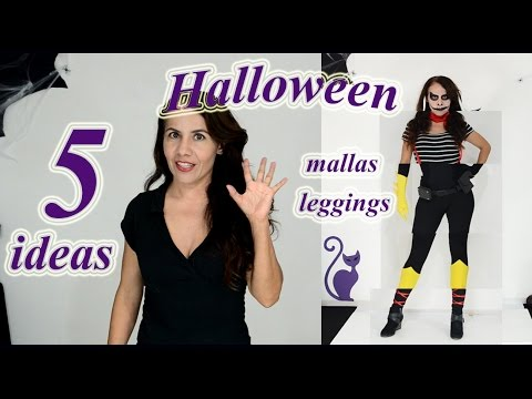 5 disfraces para  halloween con mallas negras- black leggings