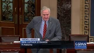 Senator Luther Strange Farewell Address (C-SPAN)