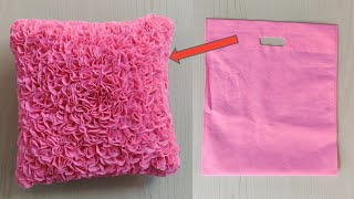 How To Make Decorative Pillow   Cushion Cover From Fabric Carry Bag   Diy   Pillow Making