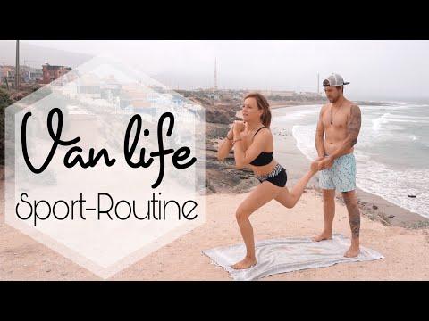 Unsere Morgen Sport Routine im Van    Yvonne Pferrer
