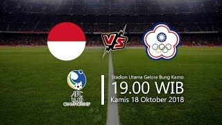 Live Streaming RCTI, Indonesia Vs Chinese Taipei di AFC U-19, Kamis Pukul 19.00 WIB