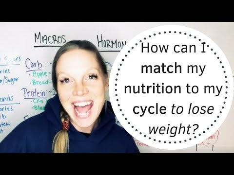 How can I match my nutrition to my cycle to lose weight?
