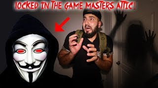 LOCKED IN EVIL GAME MASTERS HAUNTED ATTIC WE COULD HAVE DIED // PROJECT ZORGO   MOE SARGI