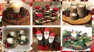 100+ Christmas Wooden Crafts - DIY Home Decor 🎄🎄🎄