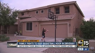 Family fights to keep basketball hoop in driveway