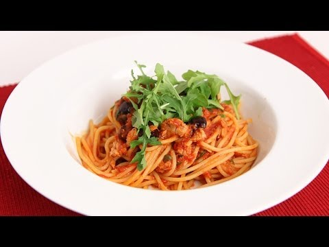 Spaghetti with Tuna Puttanesca Recipe – Laura Vitale – Laura in the Kitchen Episode 741