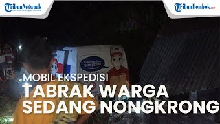 Mobil Ekspedisi Tabrak Warga yang Nongkrong di Pinggir Jalan, 4 Orang Dilarikan ke RSUD Dompu
