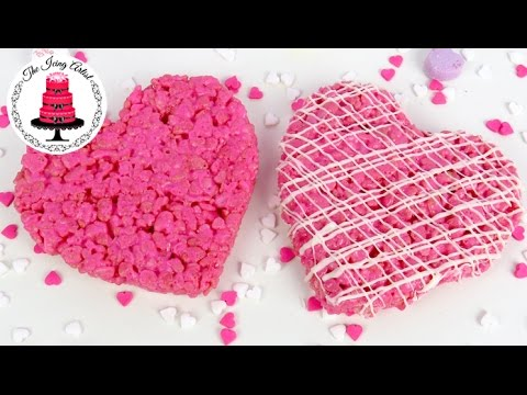Valentines Day Rice Krispie Treats - How To With The Icing Artist