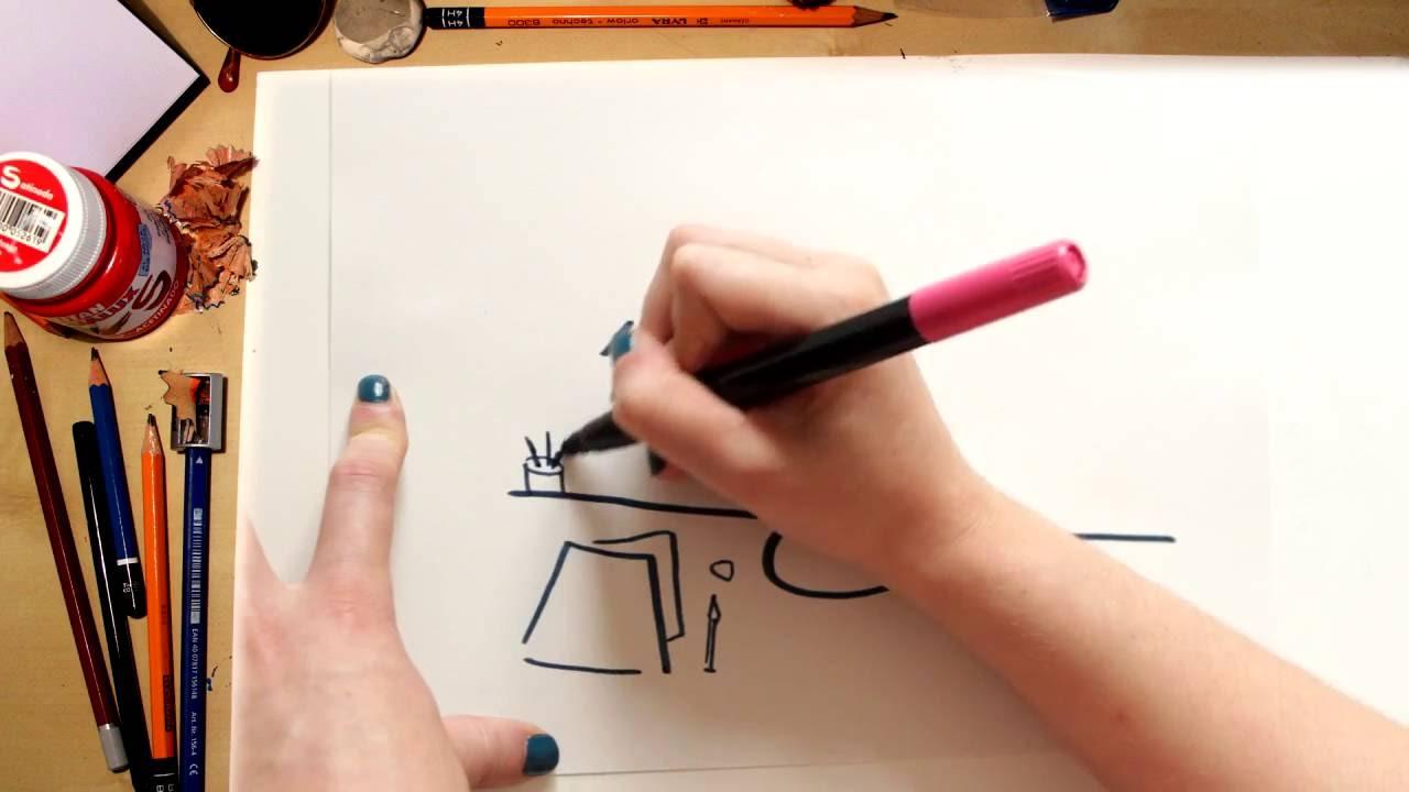 Como dibujar una Lampara - dibujos para niños