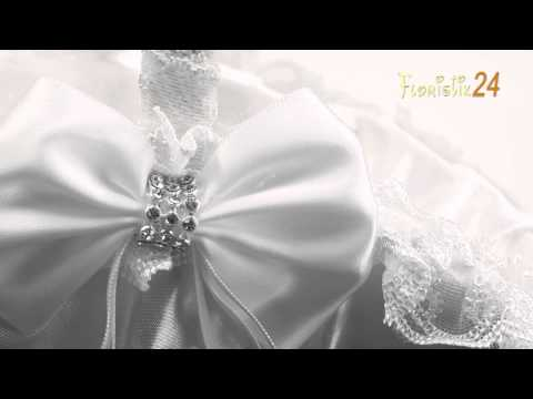 Floristik24 Streukorb Hochzeitskorb weiss