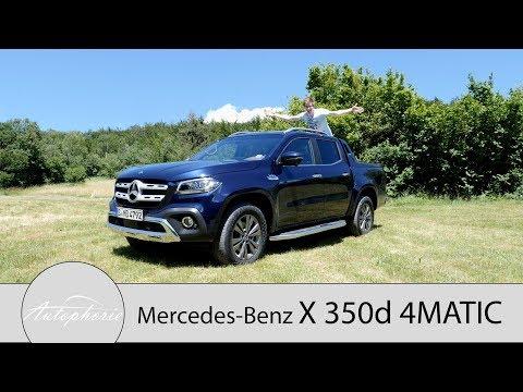 2018 Mercedes-Benz X 350d 4MATIC Fahrbericht / Mid-Size-Pickup mit V6-Turbodiesel - Autophorie