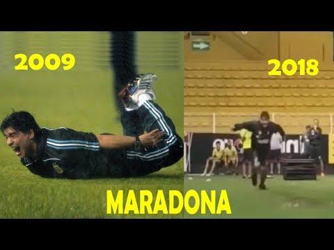 Diego Maradona - Celebración de 'palomita'
