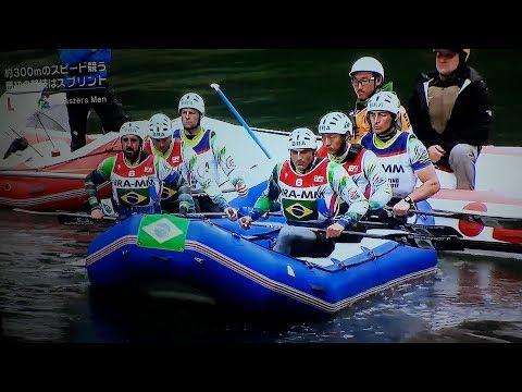 Equipe Masters Rio Abaixo de Rafting nas águas do World Rafting Championship 2017 Japan
