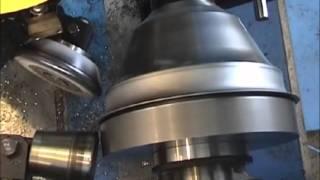 shearforming-spinning-machining-beading on a DENN ZENN-100 CNC metal spinning machine