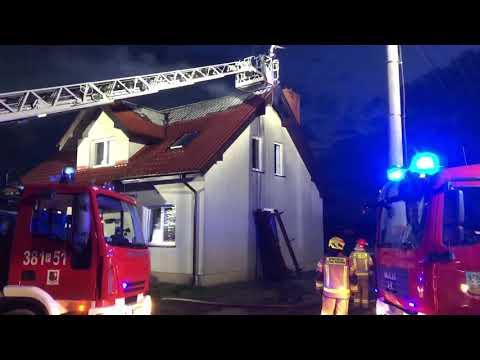Wideo1: Pożar domu jednorodzinnego w Lasocicach